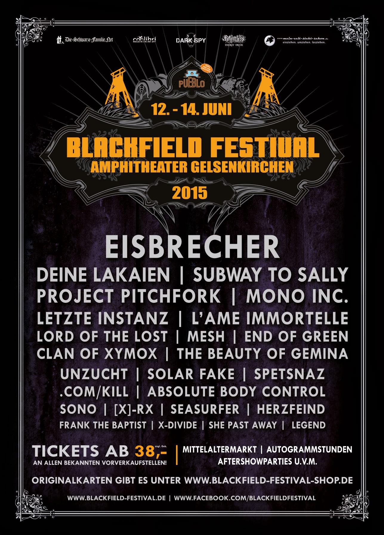 Blackfield-Festival 2015 zum letzten Mal?