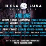 And One & 21 weitere Bands auf dem M'era Luna 2017