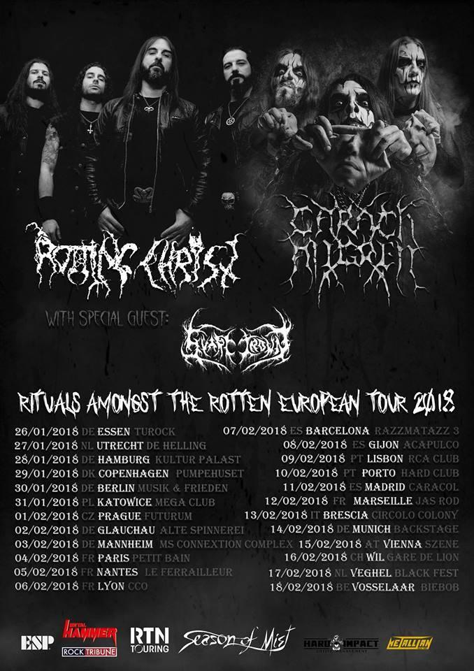 Rotting Christ & Caragh Angrem auf Europa-Tournee 2018