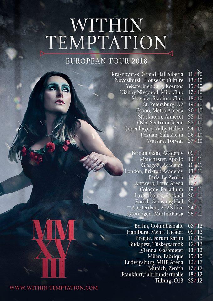 Within Temptation 2018 wieder live zu sehen